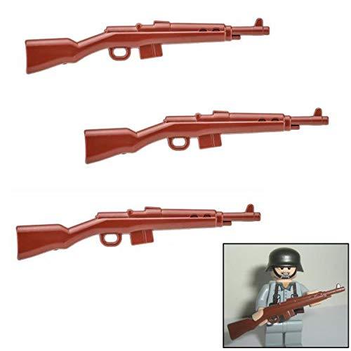 3X G43 Karabiner Gewehr DR WW2 - Custom Soldaten Waffen für Lego Figuren