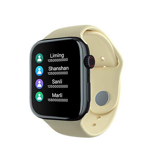 Intelligentes Armband, Herzfrequenzmesser, Fitness Tracker Health Smart Watch, 1,54-Zoll-Bluetooth-Call-Music-Player Dynamische Herzfrequenz-Blutdruck-Sportuhr, Gelb