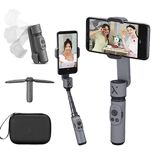 ZHIYUN Smooth X Gimbal Estabilizador de Movil Compacto Plegable Selfile Gimbal Movil Compatible iPhone 11 Samsung Huawei Android,Extensible Palo Estabilizador Smartphone para Youtube Vlog Vídeo
