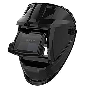 TOOLIOM True Color Welding Helmet Auto Darkening Welding Mask with Shade Range 9-13 Solar Powered Weld Hood Flaming Skull Style for TIG MIG ARC by TOOLIOM