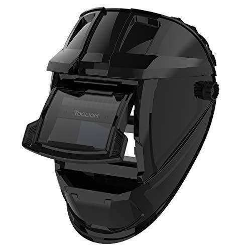TOOLIOM Flip Up Welding Helmet 3.64 x 1.67 inch Auto Darkening Clamshell Welding Mask True Color Lift Front Welding Hood
