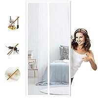 マグネット式網戸マグネット式れ 取付簡単に自動的に密閉蚊や虫電磁ドアり,適用最もするドア/ベランダ玄関/アパート ベランダ サッシドア 穴をあける必要がなく-White A||90x195cm(35x76inch)