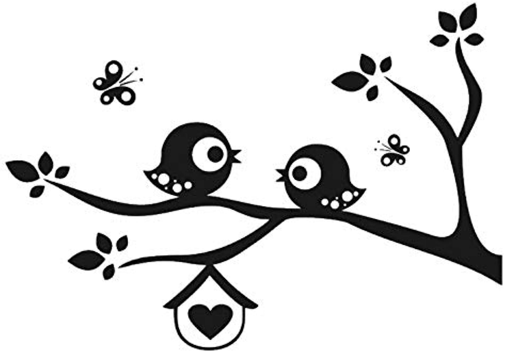 ahorre 60% de descuento Plantilla reutilizable con diseo de pájaros sobre sobre sobre rama para decoración de la parojo para dormitorio de los nios, Plantilla reutilizable de PVC, L Talla - 140 x 200 cm, 55.1 x 78.7 in  online barato