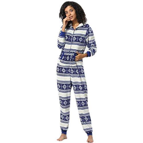 FRAUIT dames sport vrije tijd jumpsuit sneeuwvlok print trainingspak met capuchon flanel lange mouwen overall onesies sweatshirt lange broek