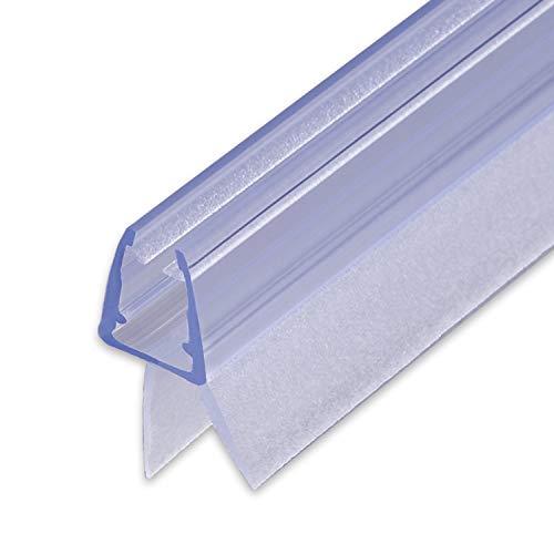 100cm Sealis Ersatz Duschdichtung - Dichtung für 5mm/ 6mm/ 7mm/ 8mm Glastür Duschwand Badewanne Duschkabine Wasserabweiser Schwallschutz Abdichtung Leiste - Transparent