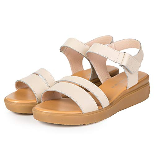 NVSLX Damessandalen, leer, vrouwen, woningen, strand, sandalen, schoenen, dames, plateau, sneakers, flip flop, schoen zomer