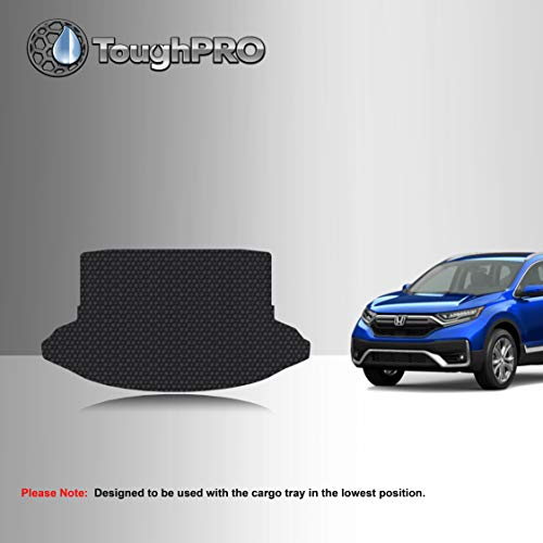 TOUGHPRO Cargo/Trunk Mat Accessories Compatible with Honda CR-V - No Sub Woofer - All Weather - Heavy Duty - (Made in USA) - Black Rubber - 2017, 2018, 2019, 2020, 2021