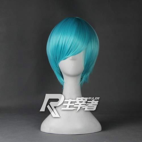 Short Blue Mix Straight Hair sinttico the Sword Dance Touken Ranbu Ichigo Hitofuri Cosplay peluca completa Peruca Anime disfraz pelucas KUZZ7855
