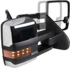 Spec-D Tuning For Chevy Silverado GMC Sierra POWER FOLDING+HEAT Extended Tow Mirrors w/LED Signal