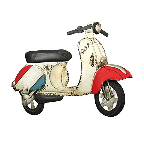Adorno Decorativo Pared Moto Scooter Vintage Metal 75 cm