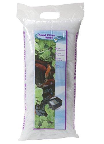 VT 147003 filterwatten voor vijverfilter tegen alle watervertroebelingen, fijn, wit, 500 g
