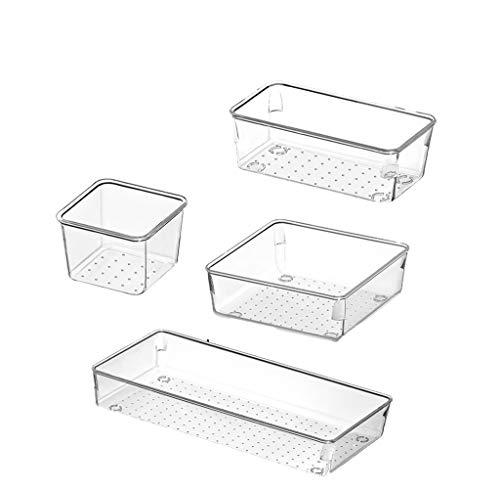 JJH Práctico Caja de Almacenamiento de cajones de Escritorio, cajonera de Cocina cajón Bandeja de plástico Clasificación de plástico Compartimiento