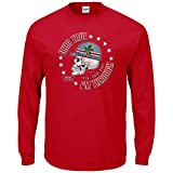 Smack Apparel Ohio State Football Fans. Ohio True 'Til The Day I'm Through Red T-Shirt (Sm-5X) (Long Sleeve, 4XL)