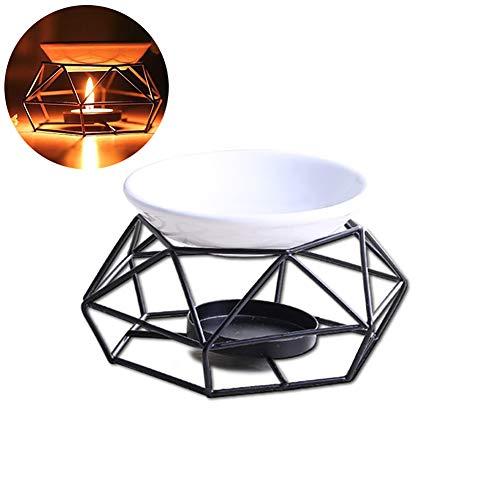 1PC Ätherisches Öl Brenner Metall Teelichthalter Geometrie Kerzenhalter Tabletop Candle Aroma Diffuser (ohne Kerzen)