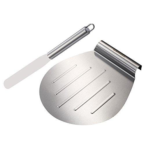 GWHOLE Kuchenheber Kuchenretter und Streichpalette Konditormesser Set, aus Edstahl