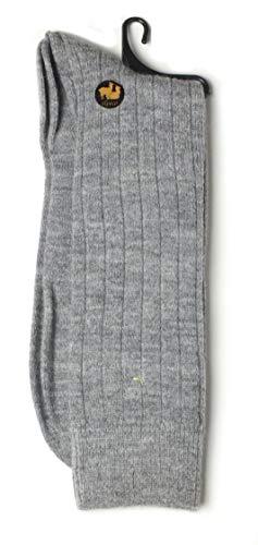 Mitos Natural Elegance Calcetines de lana de alpaca, elásticos, para negocios, calcetines de alpaca gris claro Talla única