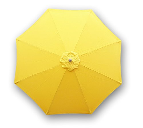 Price comparison product image Formosa Covers 9ft Umbrella Replacement Canopy 8 Ribs in Yellow Olefin (Canopy Only)