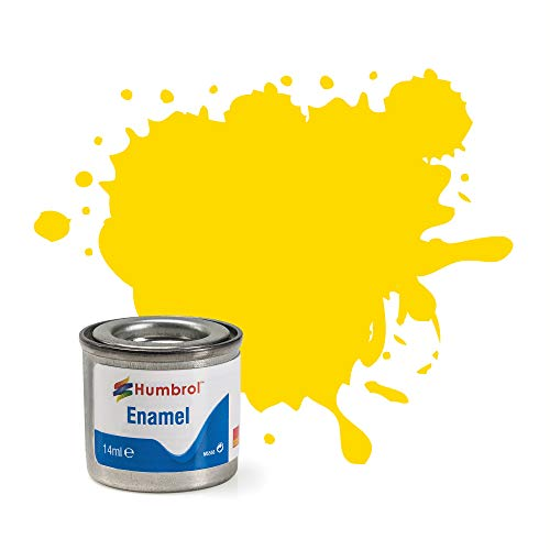 Best Price Square Humbrol 14ml No. 1 Tinlet Enamel Paint 69 (Yellow Gloss)