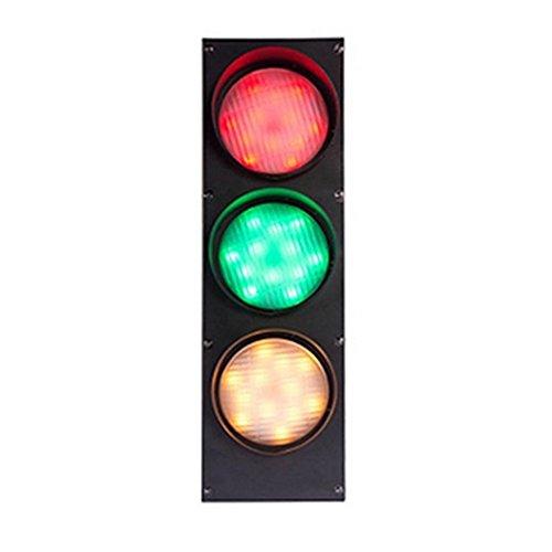 QINAIDI Señales De Tráfico Creativas Señales Luces De Hierro Barra Decorativa LED Advertencia Lámpara De Pared De Color Verde Rojo