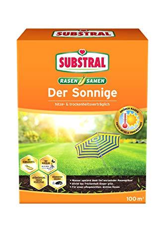 Substral Rasensamen Der Sonnige, Trockenrasen, Hochwertige Rasensamenmischung für sonnige und trockene Standorte, 2,25 kg Faltschachtel
