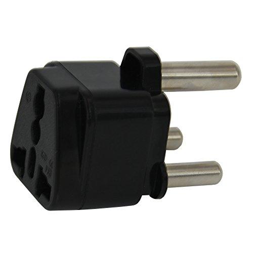 Adattatore spina da UK a Sud Africa, adattatore per viaggi in Sud Africa, Namibia, convertitore caricabatterie di tipo M (nero)