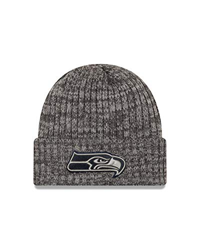 New Era Seattle Seahawks Beanie NFL 2019 On Field Crucial Catch Knit Graphite - One-Size