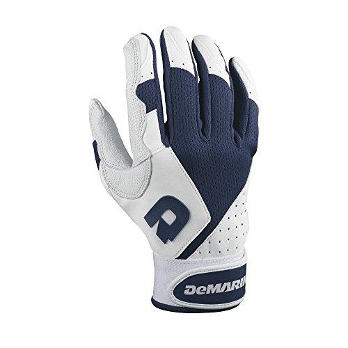 DeMarini Fastpitch Mercy Batting Gloves, Navy, Small