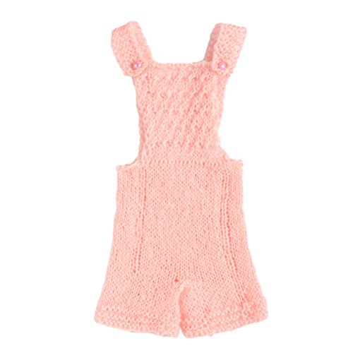 Zhhlinyuan Newborn Baby Boy Girl Costume Crochet Outfits Photography Props Romper Jumpsuit(0-4months) XDT-259