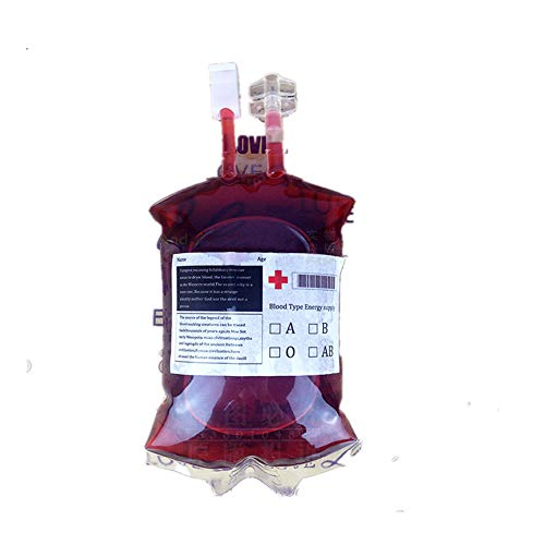 5 Blood BagS Drink Pouches PVC Anti-leak Containers Vampire Diary Blood Bags for Christmas Halloween Party Birthday