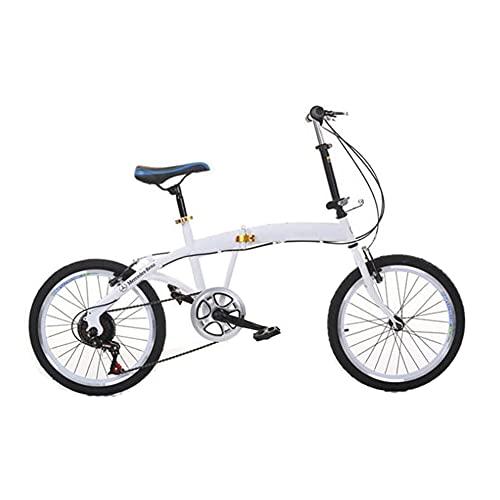JieDianKeJi Bicicletas Plegables de 20 Pulgadas, portátil, Ligero, Ejercicio de Viaje en la Ciudad para Adultos, niños, Regalos para niños, Velocidad Variable