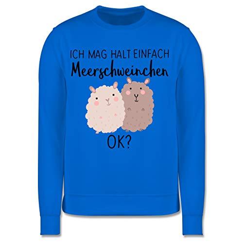 Shirtracer Tiermotive Kind - Ich mag Halt einfach Meerschweinchen OK? - 104 (3/4 Jahre) - Himmelblau - meerschweinchen Pullover - JH030K - Kinder Pullover