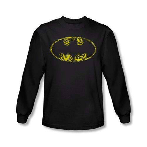 Batman - Les chauves-souris des hommes sur les MTD shirt à manches longues en noir -, Large, Black