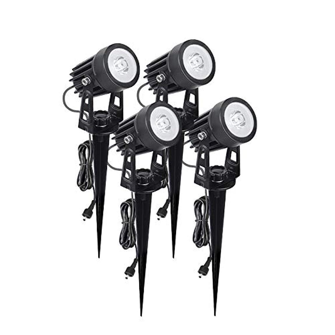 かなりのマウントバンク配当億騰 ガーデンライト スポットライト 風景ライト LED 屋外照明 埋め込み式 IP65防水 12V 3W 芝生ライト/ガーデン/小道/公園/車道など 照明?防犯?災害対策 (4個セット) (白)