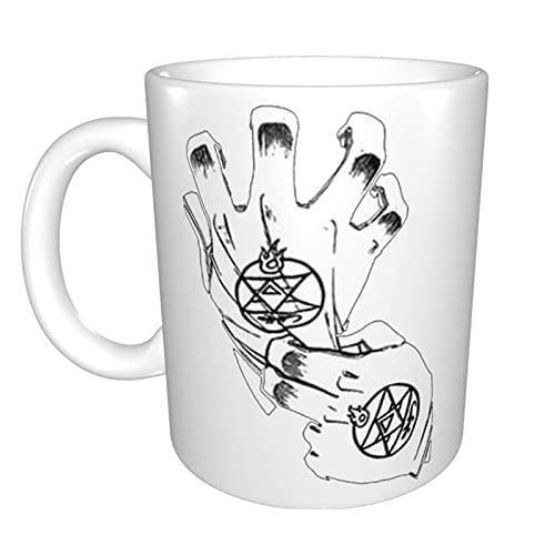 Fullmetal Alchemist – Guantes Roy Mustang únicos divertidos de cerámica taza de café en casa oficina taza de té para regalo de novedad