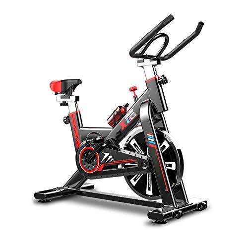 WKDZ Aptitud Bicicleta Estática, Pantalla LCD Aeróbico Máquina de Ejercicio Vertical de Bicicletas Silenciosa en Lugar Ruedas Mueven con Facilidad
