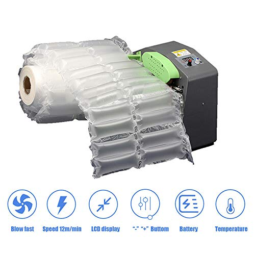 Luftkissen-Maschine Tragbare Automatik Luft Kissen Puffermaschine Luftblasen-Verpackung, die Maschine Luftbeutel für Kartons, Füllmaterial, Gerät für Luftpolsterkissen