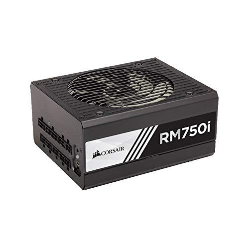Corsair RM750i Alimentatore PC, Completamente Modulare, 80 Plus Gold, 750 Watt, Digital, EU, Serie RMi, Nero