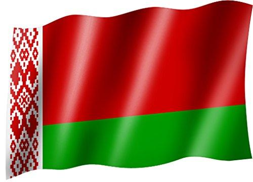 Sportfanshop24 Flagge/Fahne WEIßRUSSLAND/Belarus Staatsflagge/Landesflagge/Hissflagge mit Ösen 150x90 cm, sehr Gute Qualität
