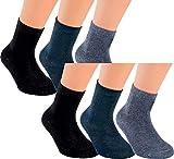 Vitasox 21096 Kinder Jungen Mädchen Socken Kindersocken Kindersöckchen Baumwolle einfarbig bunt ohne Naht 6er Pack 27/30
