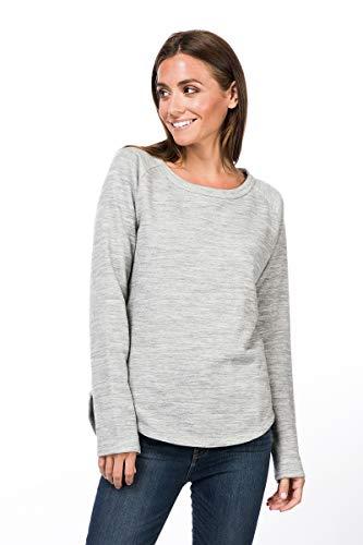 super.natural Bequemer Damen Pullover, Mit Merinowolle, W KNIT SWEATER, Größe: XXL, Farbe: Hellgrau