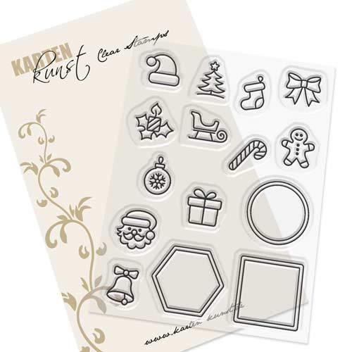 Card Art Clear Stamp Set - Mini Frames Christmas