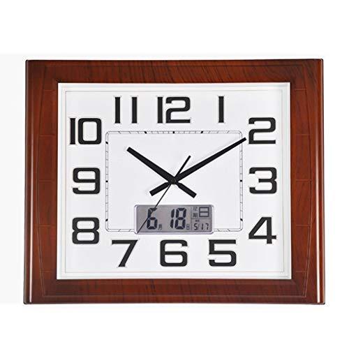 SMEJS Reloj de línea Moderna, Reloj de Pared silencioso, Pantalla de plástico, LED, Cuarzo