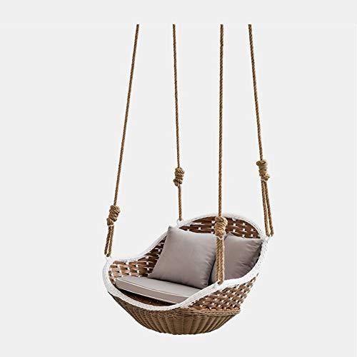 Q-L Opschorting Liften Balkon Slaapkamer Toevallige Luie Sofa Rotanschommeling Hangende Manden Veelzijdige En Comfortabele Rieten Stoel (Color : A)