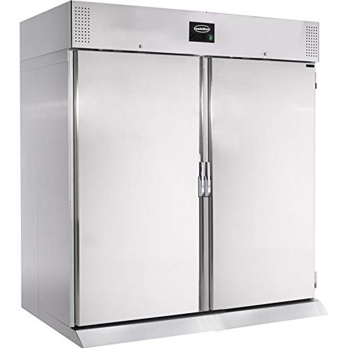 Armadio frigorifero positivo in acciaio inox, 1400 l, Combisteel, R290, 2 ante piene.