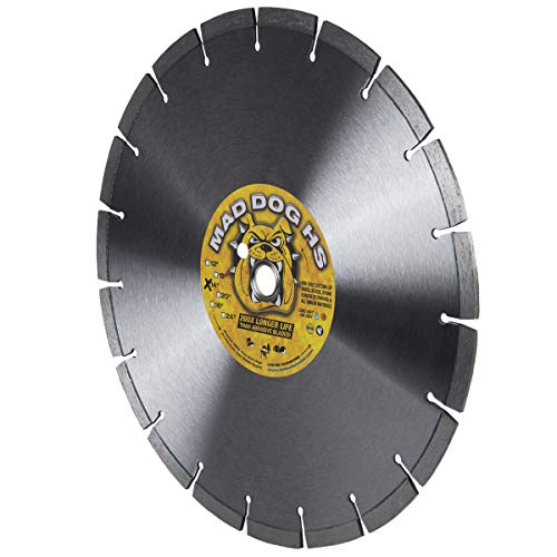 Delta Diamond Mad Dog HS 14-Inch Concrete and Masonry Diamond Blade, Laser-Welded, General Purpose Cutting Concrete, Masonry, Brick, Block, Stone (14