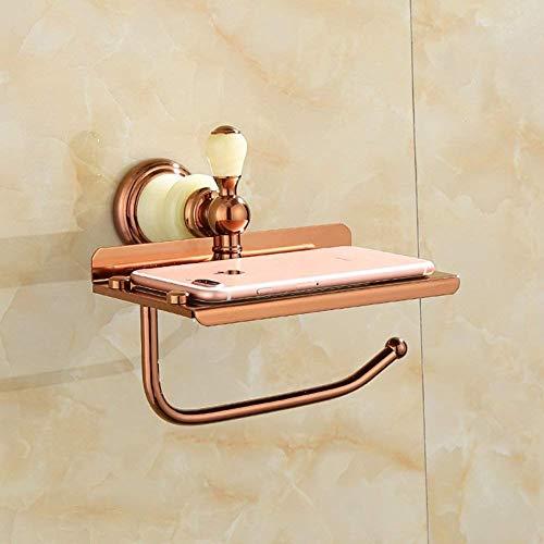 WTT toiletrolhouder Home Bad Bad wandbehang Europese papieren handdoekhouder koper toiletpapier opslagrek (grootte: P)