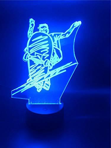 3D-Lampe Extremsport Einzigartig Der Skateboard Bluetooth-Lautsprecher Kinder Geburtstagsgeschenk Atmosphäre USB LED-Nachtlichtlampe