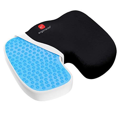 Ergonauts Gel Enhanced Seat Cushion - Non-Slip Orthopedic Gel & Memory Foam Coccyx Cushion for Tailbone Pain - Office Chair Car Seat Cushion - Sciatica & Back Pain Relief