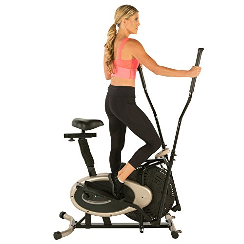 Exerpeutic Gold Elliptical and Exercise Bike Dual...