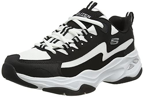 Skechers D'LITES 4.0, Zapatillas Hombre, Black, 44 EU